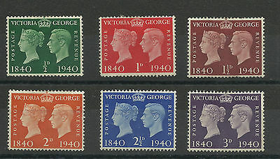 A Set of 1940 Centenary Issues, Average Mounted Mint.