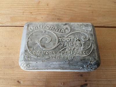 c1900 Tooth Paste Dentifrice Glass & Metal Container  California PERFUME Co NY