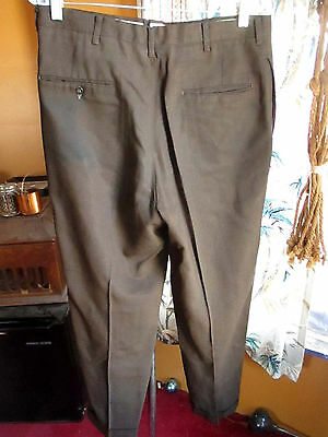 32x29 True Vtg 60's Mens MOD OLD MAN BROWN RAYON Garage BAND Trousers pants