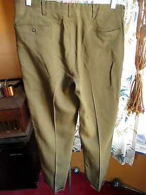 33x29 True Vtg 60's Mens MOD GOLDEN RAYON Garage BAND STOVEPIPE Trousers pants