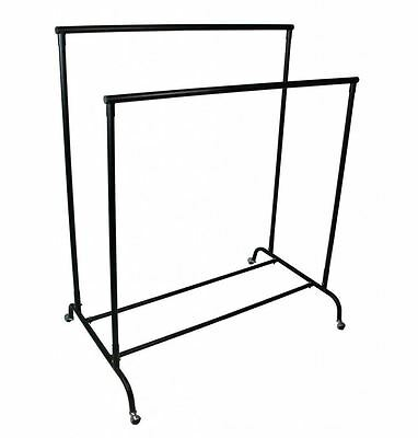 4ft x 5ft heavy duty double clothes rail garment hanging rack shop rail fittings