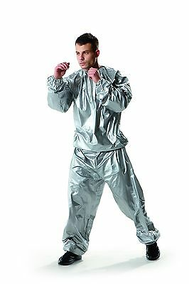 Everlast Mens Classic Silver Sauna Suit - Boxing - Sport - Training - Size MD/LG