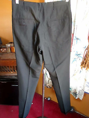 30x34 True Vtg 60's Mens MOD BLACK RAYON Garage BAND STOVEPIPE Trousers pants