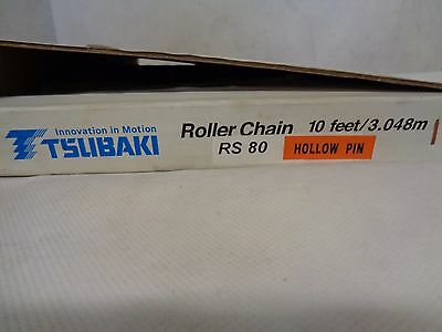 New Tsubaki Rs80 Hollow Pin Roller Chain