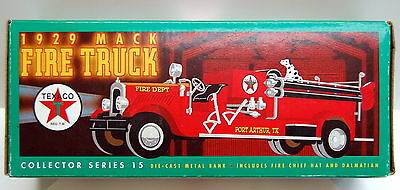 ERTL Texaco 1929 Mack Fire Truck Bank, Collector Series #15, 1:25 Scale - NIB