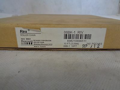New Rexnord Roller Chain 08Bk-1 10Ft (3.05M) 240 Pitches