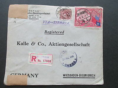 China 1940 R-Brief Shanghai No. 17868 Zensur der Wehrmacht / Geöfnet! DEFAG