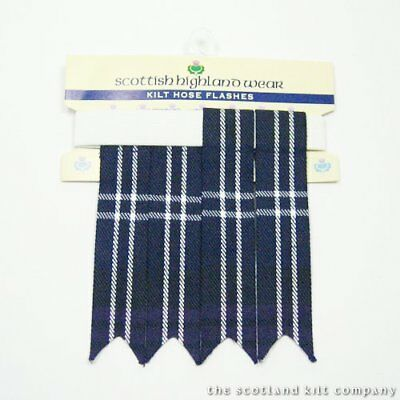 New Mens Heritage of Scotland 100% Acrylic Wool Kilt Hose Flashes with Garters