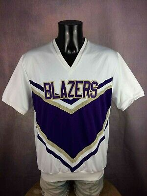 BLAZERS Team Jersey Maillot Trikot Cran Barry Made In Boston USA Lining Hockey
