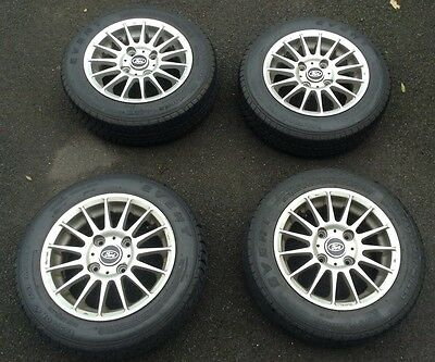 Set Of 13 Inch Alloys Wheels With Tyres ( X4 ) 155/70 R13