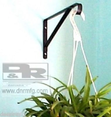 "New 2Pcs 10"" Flower Basket Hangers / Brackets For Hanging Garden Plants Planters"