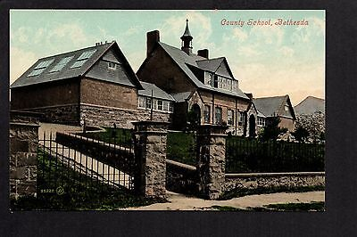 Bethesda - County School - colour printed postcard