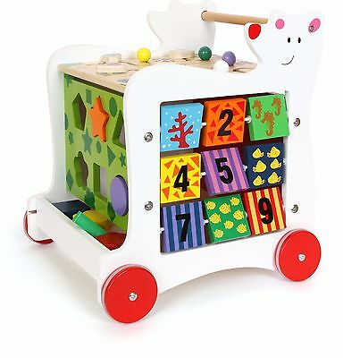 Bear Walker Legler Balance Learn to Walk Colours Child Baby Hinged Lid Toy Box