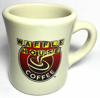 WAFFLE HOUSE COFFEE Heavy Thick Diner Style Coffee Mug - Excellent Condition 8oz