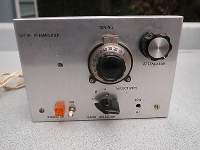 SW RF Preamplifier PREAMP RADIO Vintage UNIT Powers On