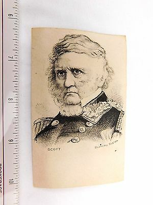 1880's-90's Engraved Political General Winfield Scott Civil War Mexican Card F29