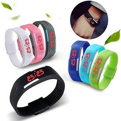 Men Silicone Wristwatch Fashion LED Digital Touch Wristwatch Sport Waterproof