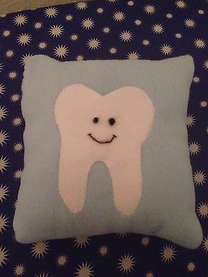 Tooth Fairy Cushion Baby Blue Handmade Gift  present child