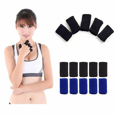 10PCS  Sports & Outdoors Stretchy Protector Arthritis Finger Support Sleeve