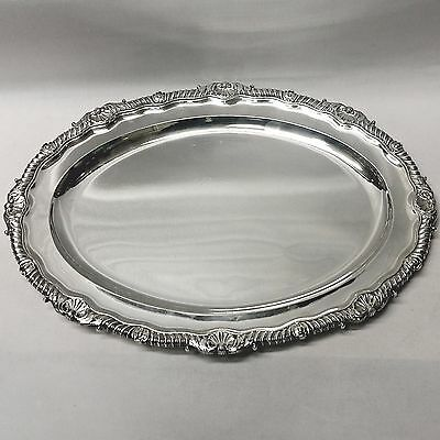 George III Silver Serving Platter by Paul Storr 1812. Stock ID 8741