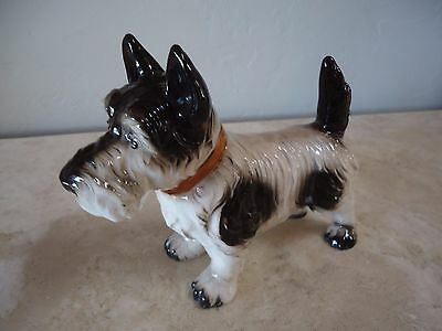 "Vintage 1940's DOG FIGURINE of a TERRIER / Made in JAPAN / LARGE SIZE 7""X5"""