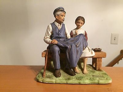 """Norman Rockwell """"The Lighthouse Keepers Daughter"""" Figurine 1979"""