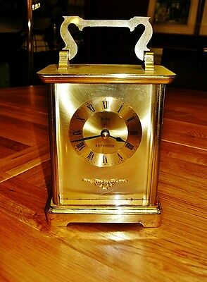 Acctim Westminster all brass handsome carriage clock