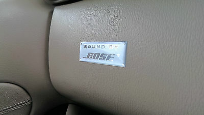 BOSE 'Sound By' Silver 3D domed sticker badge 60x20mm [H206]