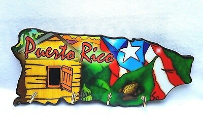 Puerto Rico Home Decorative Souvenirs Keychain Wall Holder ( Boricua Rican ) #6