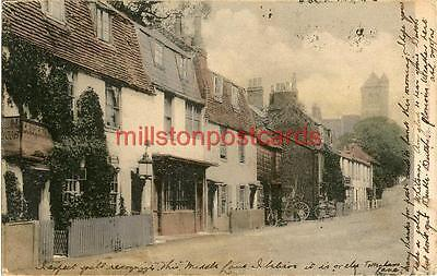 Printed Postcard Of Old Houses, Crouch End, (London), Middlesex