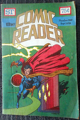 The Comic Reader #160 - 1978 Newzine - Kerry Gammill cover of Doctor Strange!