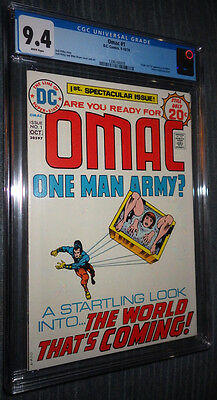 OMAC #1 CGC 9.4 White Pages 1st appearance and origin OMAC - Jack Kirby!