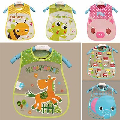 Kid Bib Turn Saliva Feeding Plastic Kids Lunch Waterproof Bibs Baby Towel