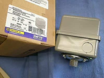 SQ-D 60-80#  HD WATER PUMP PRESSURE SWITCH #9013GHG2J25 Square D