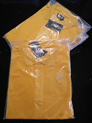 TOUR STYLE GOLF SHIRT - GOLD PREMIUM COTTON with Logo - SIZE(USA) MEDIUM
