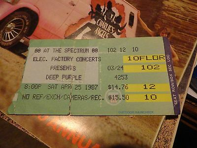 1987 Deep Purple Electric Factory ticket Used