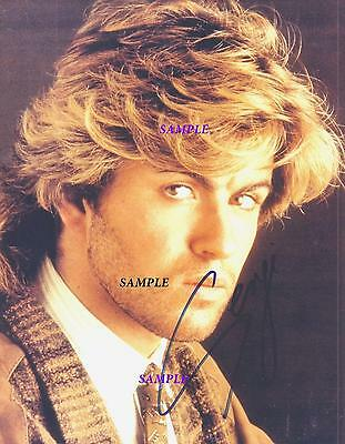 George Michael #1 Reprint Autographed 8X10 Signed Picture Photo Rp Gift Wham