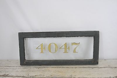 Antique Wood Transom Window With Number Address Architectural Salvage Window #2
