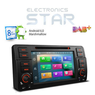 BMW E46 M3 318 320 Octa-Core Android 6.0 Car GPS Sat Nav Stereo DVD Player DAB+
