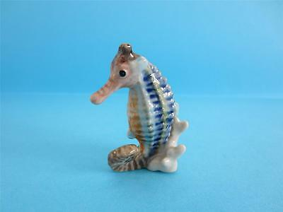 New Rainbow Seahorse On Coral Figurine, Soo Cute With Box *mint*