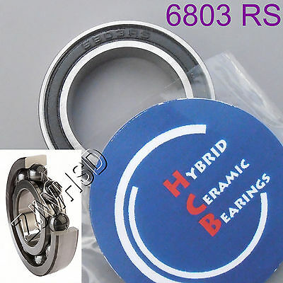 6803 2RS Si3N4 Hybrid Ceramic Ball Bearing Rubber Sealed 61803 17 x 26 x 5mm