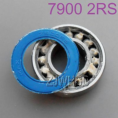 7900 2RS 10 x 22 x 6mm MAX Full Complement Angular Contact Ball Bearing for Hub