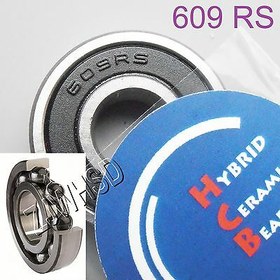 609 2RS Si3N4 Hybrid Ceramic Ball Bearing Rubber Sealed 609RS 9 x 24 x 7mm