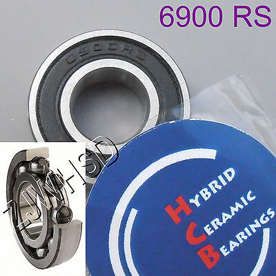 6900 2RS Si3N4 Hybrid Ceramic Ball Bearing Rubber Sealed 61900 10 x 22 x 6mm