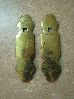 Vintage ANTIQUE? BRASS ESCUTCHEON Backplates KEY HOLE COVERS? Knobs/Handles? 4""