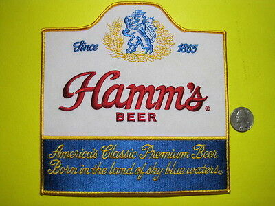 Beer Patch Hamms  Large Back Size Look And Buy Now!!*