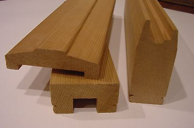 (SAMPLE 3 PART RAIL) FLAT SAWN BALUSTERS 12 INCHES LONG - Type 1