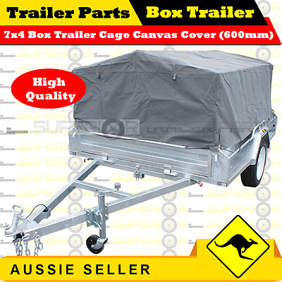 7X4 BOX TRAILER CAGE CANVAS COVER (600mm)