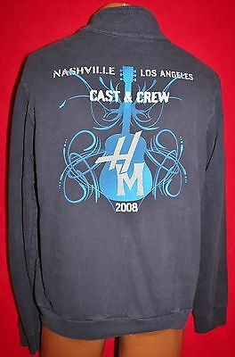 HANNAH MONTANA 2008 The Movie Cast & Crew Only Zipper JACKET XL Miley Cyrus RARE