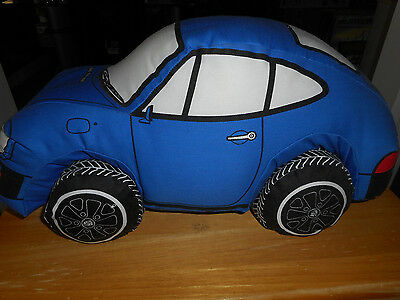 Toys for Adults (Margie Smith-Haas) (USA) Blue Porsche 911  Cloth Pillow 1977